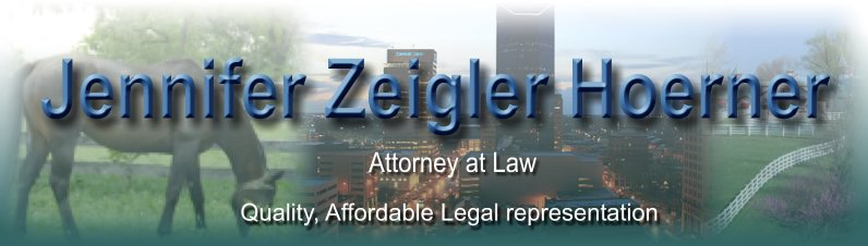 Jennifer Zeigler Hoerner. Quality, Affordable Legal Representation. Attorney in Lexington, KY